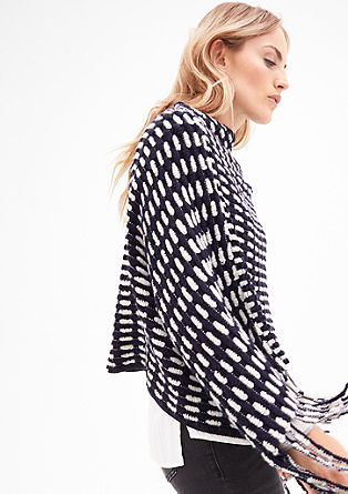 Textured knit poncho from s.Oliver