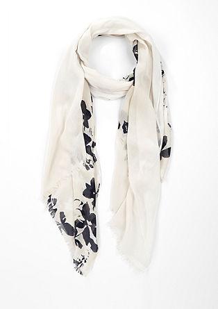 Schal mit floralem Design