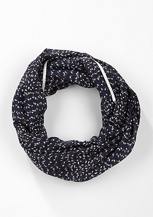 Patterned snood with shiny details from s.Oliver