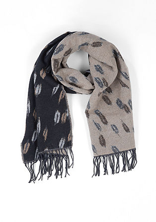 Soft jacquard scarf from s.Oliver