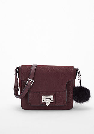City bag with a faux fur charm from s.Oliver