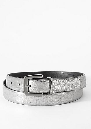 Metallic-Ledergürtel