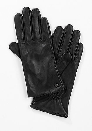 Soft leather gloves from s.Oliver