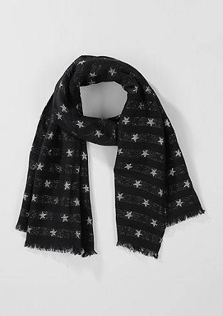 Woven scarf with a star pattern from s.Oliver