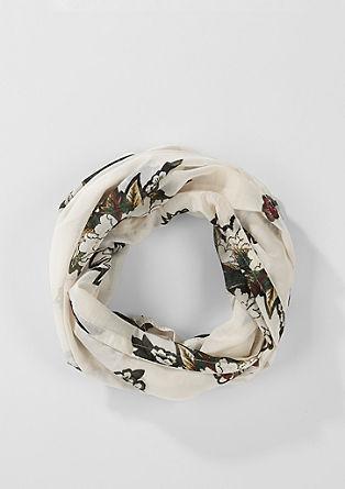 Schlauchschal mit floralem Print