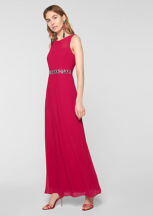 Long chiffon dress with decorative beads from s.Oliver
