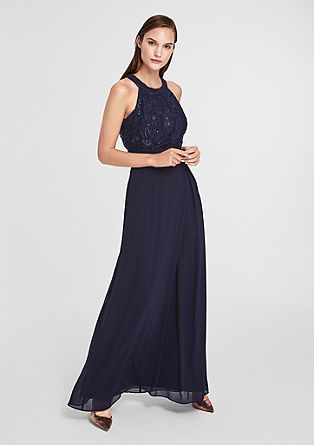 Evening dress in chiffon and lace from s.Oliver