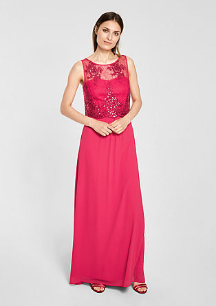 Chiffon dress with lace from s.Oliver