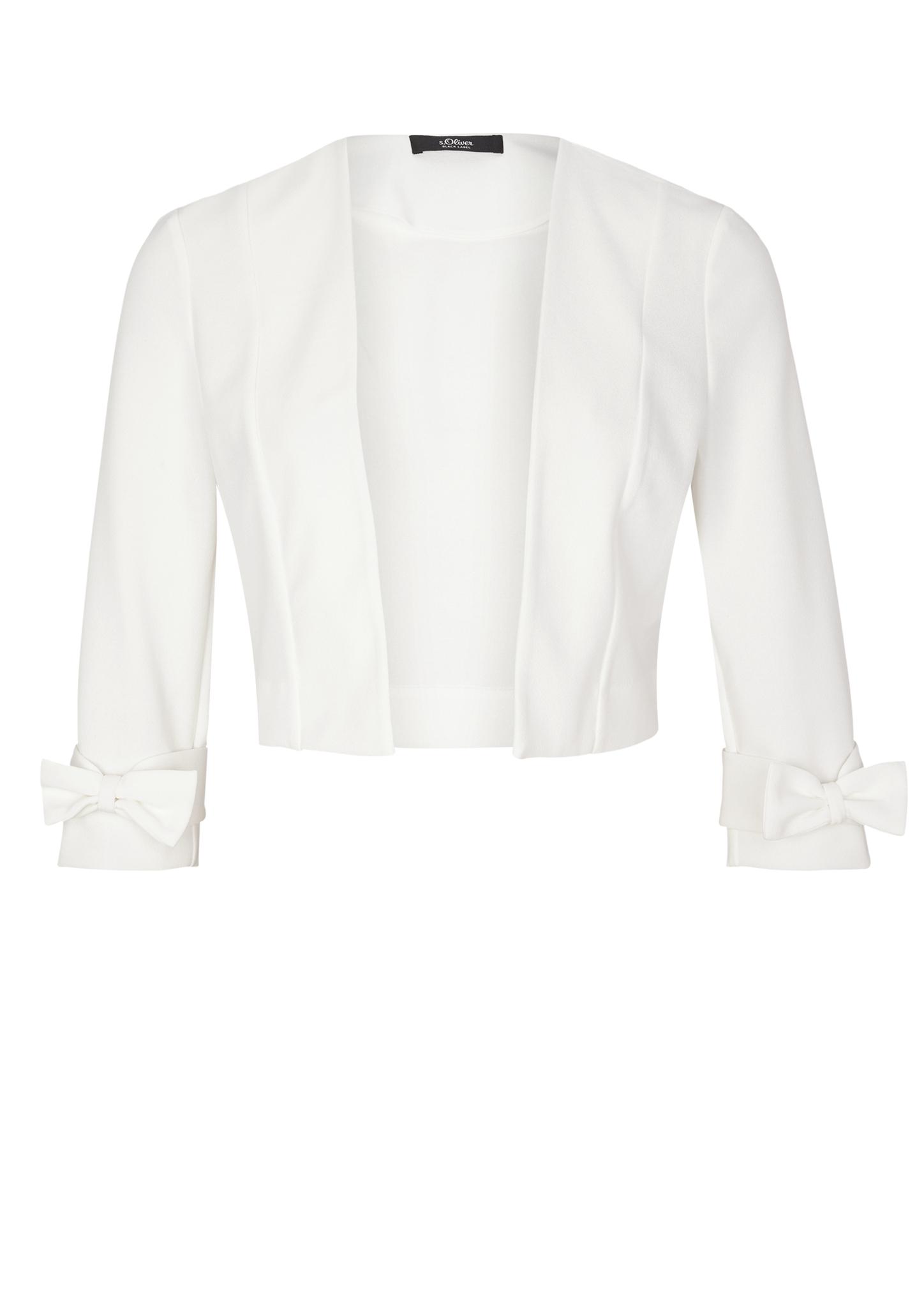 Bolero | Bekleidung > Jacken > Boleros | Weiß | 95% polyester -  5% elasthan | s.Oliver BLACK LABEL