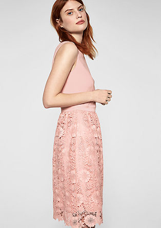 Cocktail dress with floral lace from s.Oliver