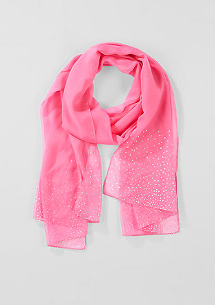 Chiffon scarf with sparkly polka dots from s.Oliver