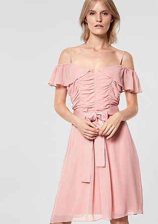 Off Shoulder-Kleid mit Raffungen