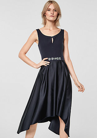 Elegant dress with a shimmering skirt from s.Oliver