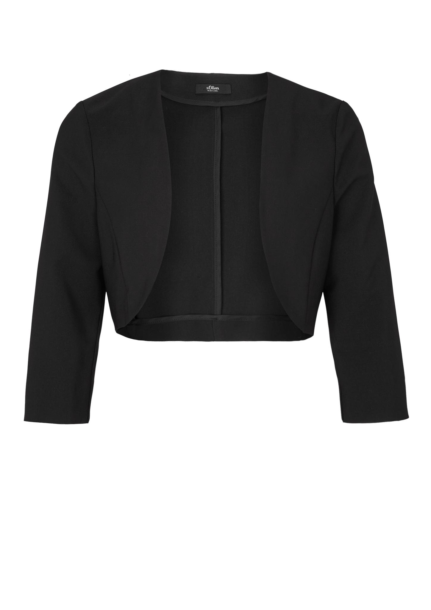 Bolero | Bekleidung > Jacken > Boleros | Grau/schwarz | Obermaterial 86% polyester -  14% elasthan| futter (paspelierung) 100% acetat | s.Oliver BLACK LABEL