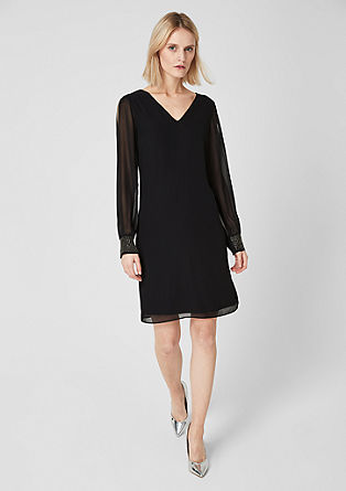 Chiffon dress with a sheer finish from s.Oliver