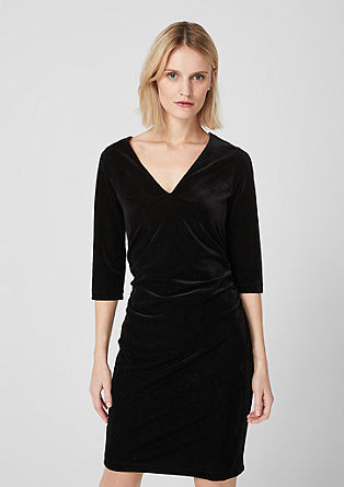 V-neck dress made of glittery velvet from s.Oliver