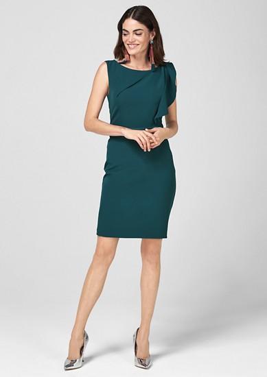 Figurbetontes Kleid mit Volant