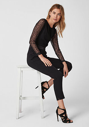 Jumpsuit with sheer lace from s.Oliver