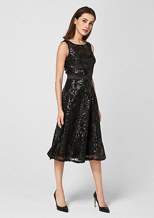 Flared sequin dress from s.Oliver