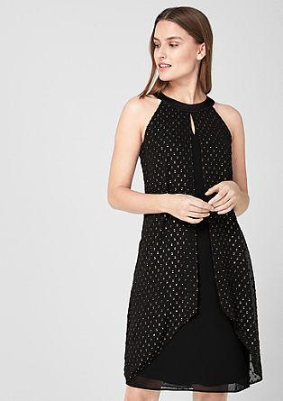 Kleid aus Struktur-Chiffon