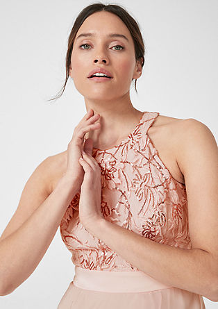Midi dress made of lace and chiffon from s.Oliver