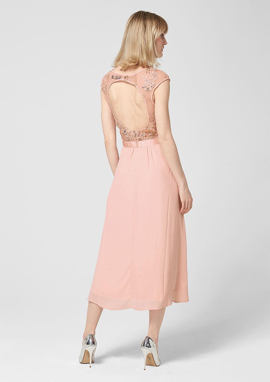 s.Oliver - Rückenfreies Kleid mit Embroidery - 2