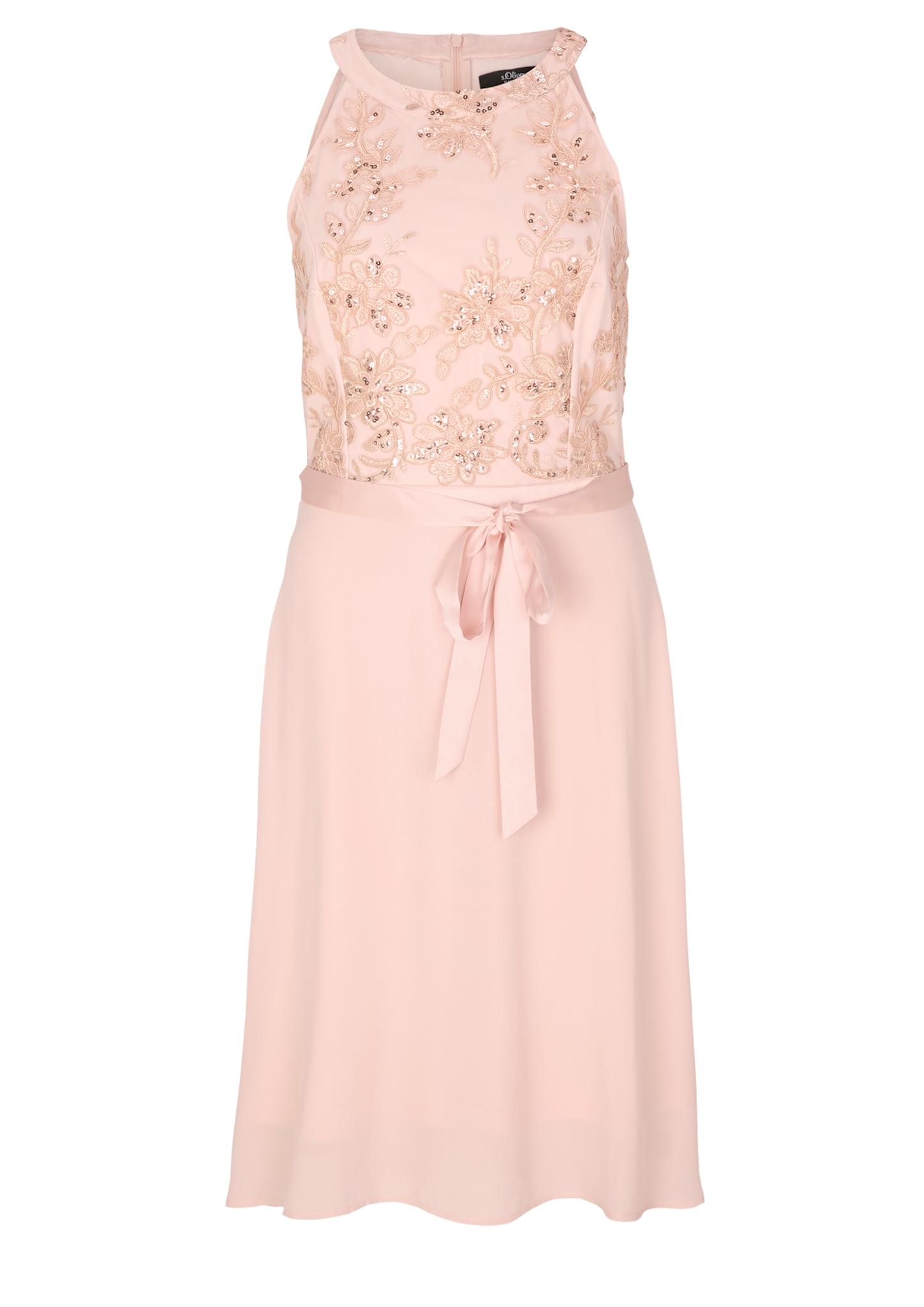 Party-Kleid | Bekleidung > Kleider > Partykleider | Rosa | Oberstoff a: 100% polyester| oberstoff b: 100% polyamid| futter: 100% polyester | s.Oliver BLACK LABEL