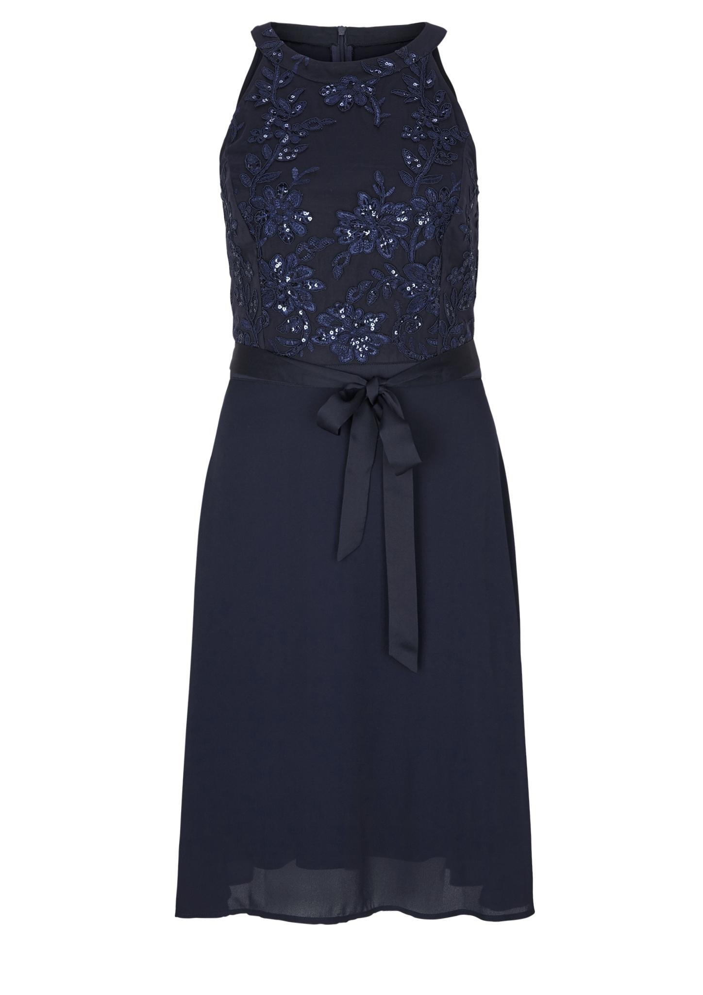 Party-Kleid | Bekleidung > Kleider > Partykleider | Blau | Oberstoff a: 100% polyester| oberstoff b: 100% polyamid| futter: 100% polyester | s.Oliver BLACK LABEL