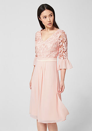 Dress in floral lace and chiffon from s.Oliver