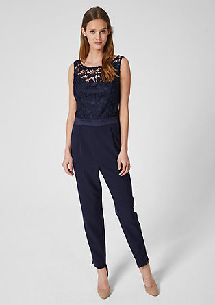 Elegant jumpsuit with lace from s.Oliver