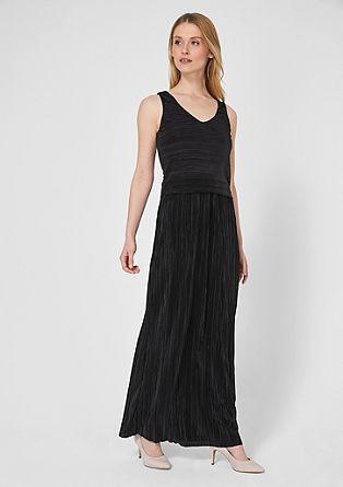 Schimmerndes Plissee-Kleid