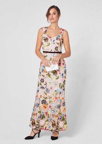 Mesh-Kleid mit Embroidery