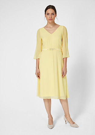 Chiffon dress with a satin trim from s.Oliver