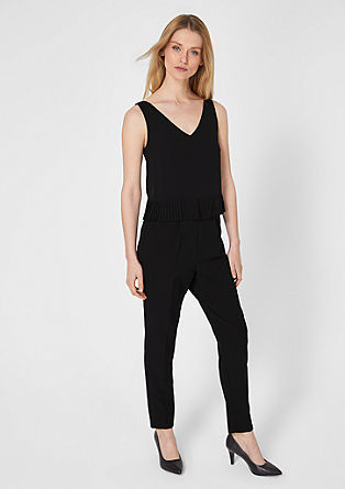 Jumpsuit with pleats from s.Oliver