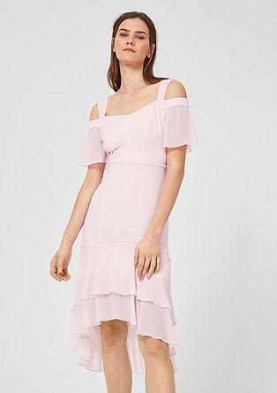 Cold Shoulder-Kleid aus Chiffon