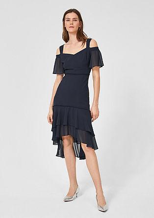 Obleka z razkritimi rameni iz šifona