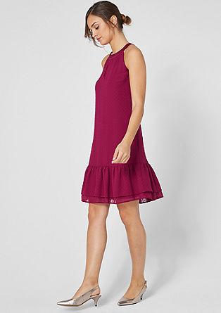Plumetis-Kleid aus Chiffon