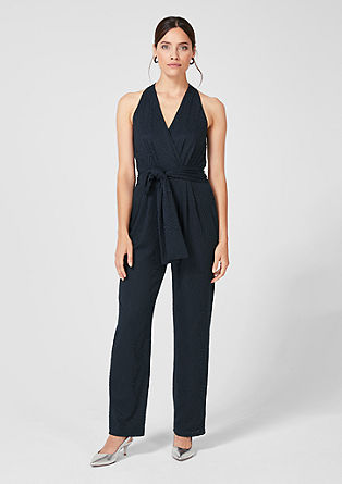 Jumpsuit with a fine pattern from s.Oliver