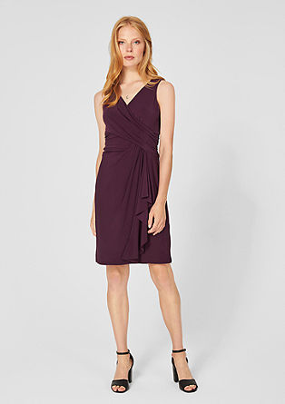 Short dress with a wrap-over effect from s.Oliver