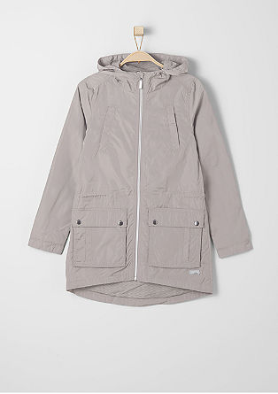 Wasserabweisende Long-Jacke