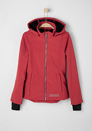 Softshell jacket with a plush inside from s.Oliver