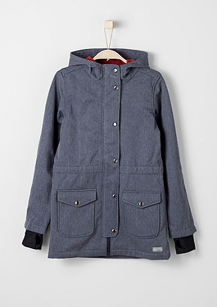 Melange softshell coat from s.Oliver
