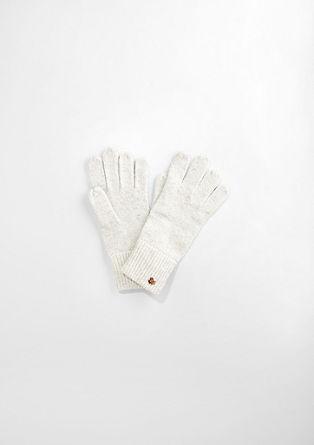 Handschoenen met een gemêleerde look
