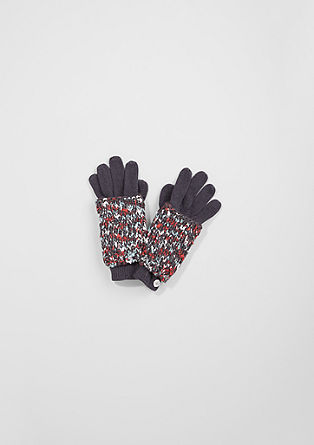 Gloves with a melange trim from s.Oliver