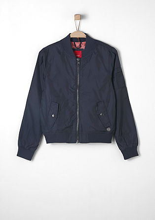 Blouson-Jacke in Nylon-Optik