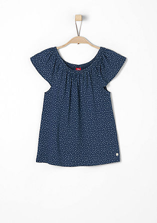 Polka dot off-the-shoulder top from s.Oliver