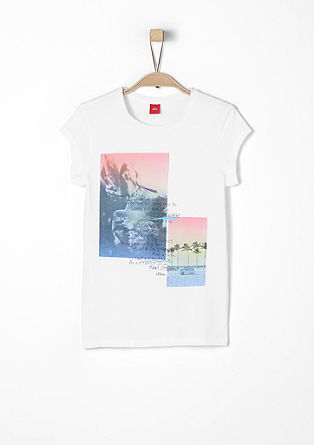 T-shirt with summer statement from s.Oliver