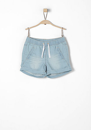 Shorts aus Light Denim