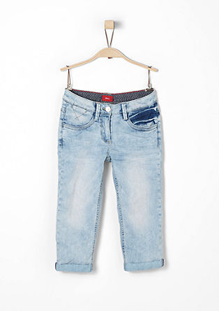 Skinny suri: capri-jeans met stretch
