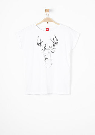 Print T-shirt with sequins from s.Oliver